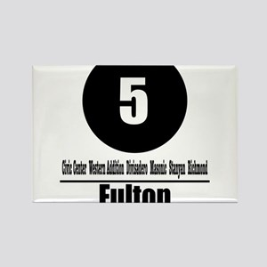 5 Fulton (Classic) Rectangle Magnet