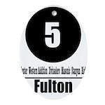 5 Fulton (Classic) Oval Ornament