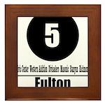 5 Fulton (Classic) Framed Tile
