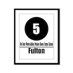 5 Fulton (Classic) Framed Panel Print