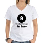 9 San Bruno (Classic) Women's V-Neck T-Shirt