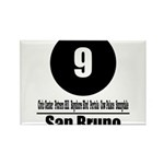 9 San Bruno (Classic) Rectangle Magnet (10 pack)