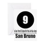9 San Bruno (Classic) Greeting Cards (Pk of 10)