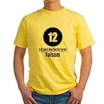 12 Folsom (Classic) Yellow T-Shirt