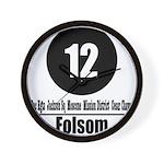 12 Folsom (Classic) Wall Clock