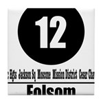 12 Folsom (Classic) Tile Coaster