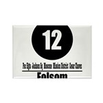 12 Folsom (Classic) Rectangle Magnet (10 pack)