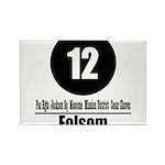 12 Folsom (Classic) Rectangle Magnet (100 pack)