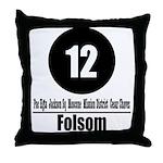 12 Folsom (Classic) Throw Pillow