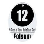 12 Folsom (Classic) Oval Ornament