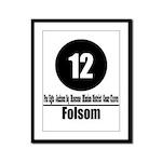 12 Folsom (Classic) Framed Panel Print