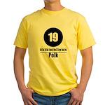 19 Polk (Classic) Yellow T-Shirt