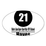 21 Hayes (Classic) Oval Sticker