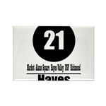21 Hayes (Classic) Rectangle Magnet (100 pack)