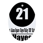 21 Hayes (Classic) Oval Ornament