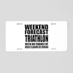 Worlds Okayest Triathlon Pl Aluminum License Plate