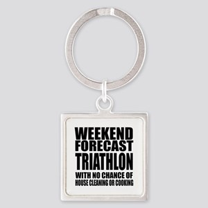 Worlds Okayest Triathlon Player De Square Keychain