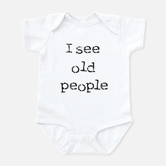 i see old people Infant Bodysuit