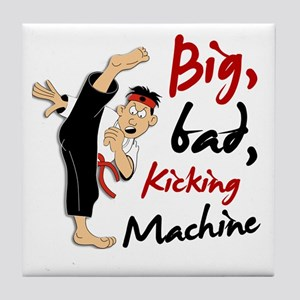 Funny Kicking Man 3 Tile Coaster