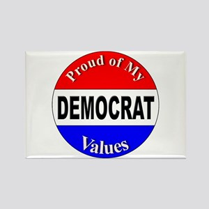 Proud Democrat Values Rectangle Magnet