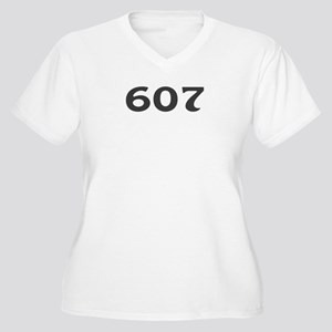 607 Area Code Women's Plus Size V-Neck T-Shirt