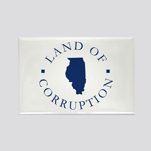 Illinois - Land Of Corruption Rectangle Magnet