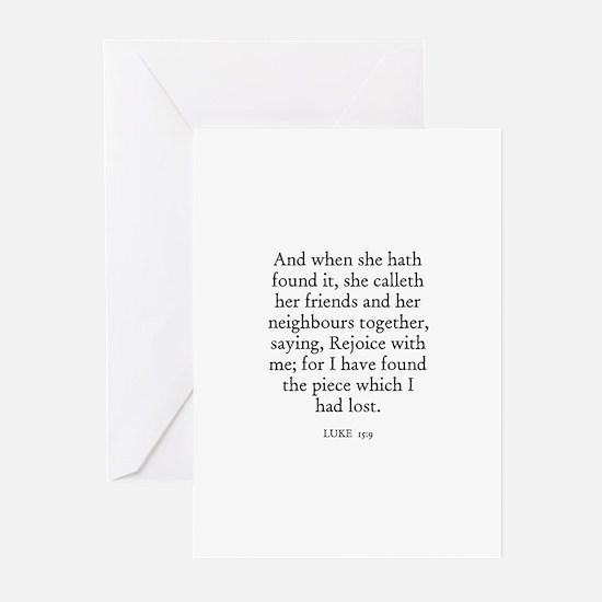 LUKE  15:9 Greeting Cards (Pk of 10)