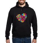 Love & Peace in Heart Hoodie (dark)