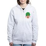 Earth Day : Tree Hugger, Hug me! Women's Zip Hoodi
