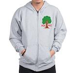 Earth Day : Tree Hugger, Hug me! Zip Hoodie