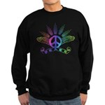 Peace Sign with Wings Rainbow Sweatshirt (dark)
