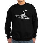 Peace & Love Skull with Wings Sweatshirt (dark)