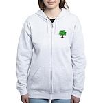 Earth Day / I hug tree Women's Zip Hoodie