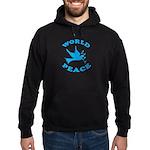 World Peace, Peace and Love. Hoodie (dark)