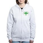 Earth Day : Officially Gone Green Women's Zip Hood