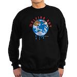Earth Day ; Melting hot earth Sweatshirt (dark)