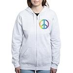 Love & Peace Designs. Rainbow Women's Zip Hood