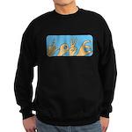 Love & Peace hands Sweatshirt (dark)