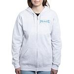 Peace in Blue Women's Zip Hoodie