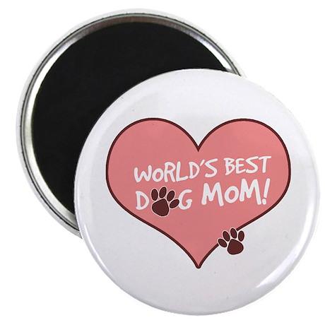 "World's Best Dog Mom 2.25"" Magnet (100 pack)"