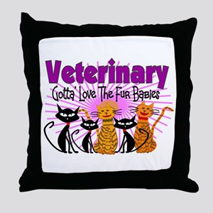 More Veterinary Throw Pillow