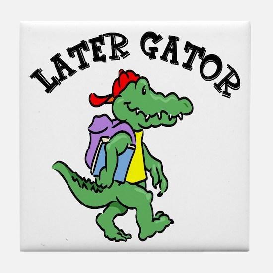 Later Gator Tile Coaster