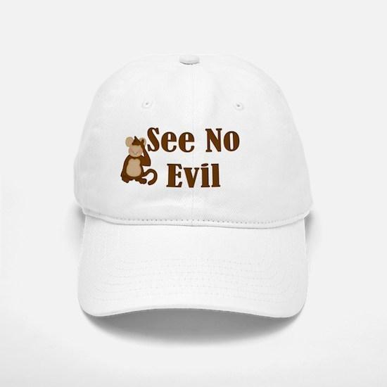 See No Evil Baseball Baseball Cap