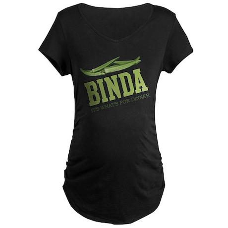 Binda - Its Whats For Dinner Maternity Dark T-Shir