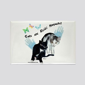 Cats Are Reiki Magnets Rectangle Magnet