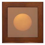 Sun Burning Fog Framed Tile