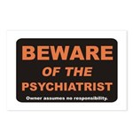 Beware / Psychiatrist Postcards (Package of 8)