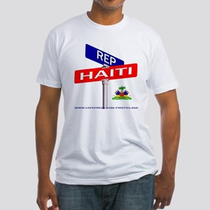 REP HAITI Fitted T-Shirt