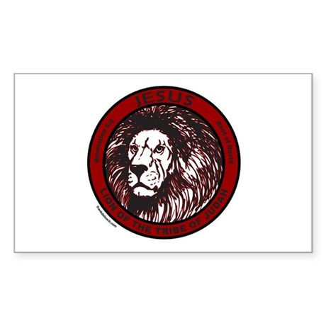 LION, TRIBE OF JUDAH Rectangle Sticker