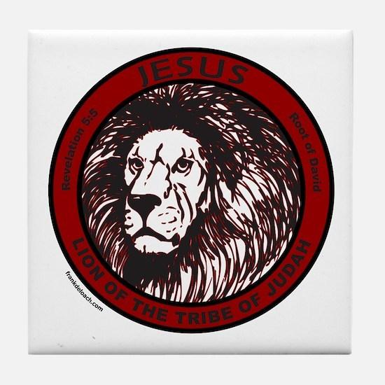 LION, TRIBE OF JUDAH Tile Coaster